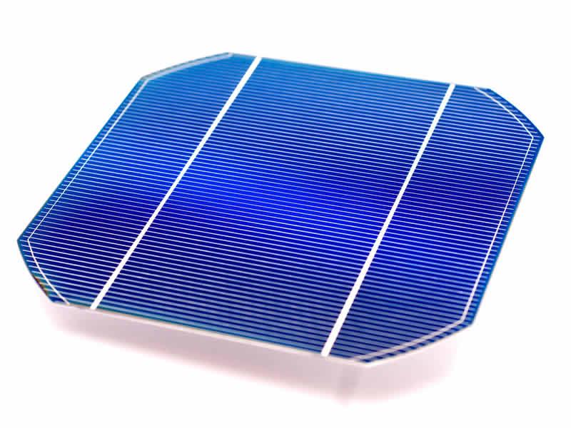 Monocrystalline solar cell.