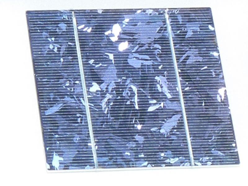 Polycrystalline solar cell.
